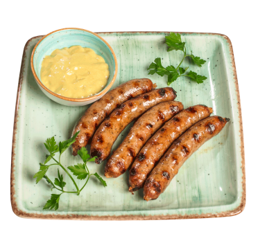 Beer sausages by our own recipe