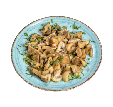 Pan-fried fresh mushrooms