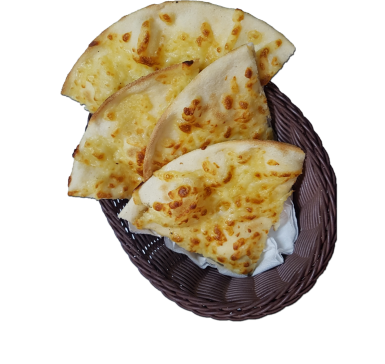 Focaccia with yellow cheese