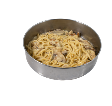 Fresh pasta with forest mushrooms