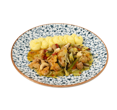 Chicken with Cashew and Asian vegetables