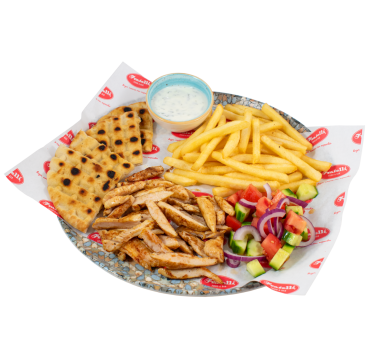 Gyros with chicken meat